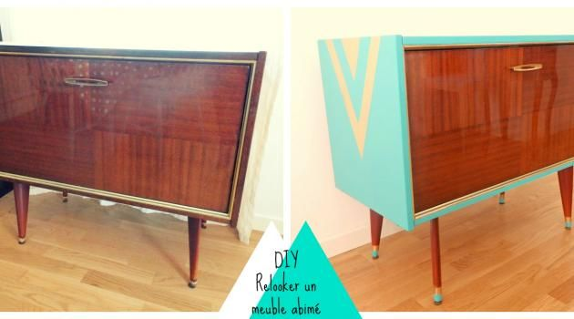 DIY Relooker un meuble abimé Refurbished Furniture Pinterest - relooker un meuble en pin