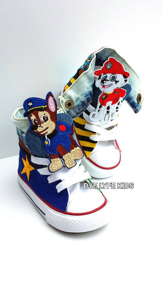 341f10ba8be4 PAW PATROL CHUCKS Converse sneakers shoes chase marshall