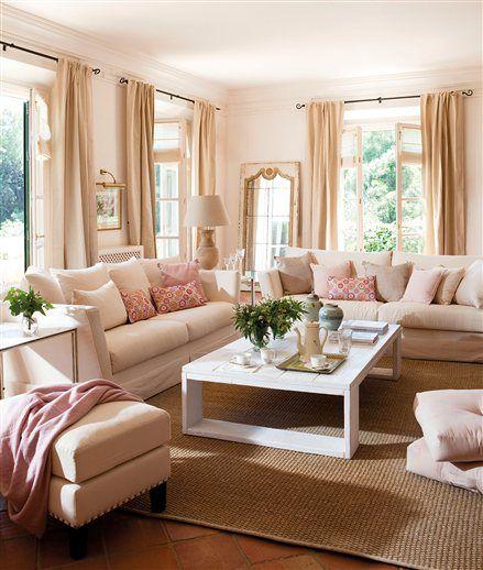 Elige las telas perfectas para el salón | Pinterest | Salón, Luces y ...