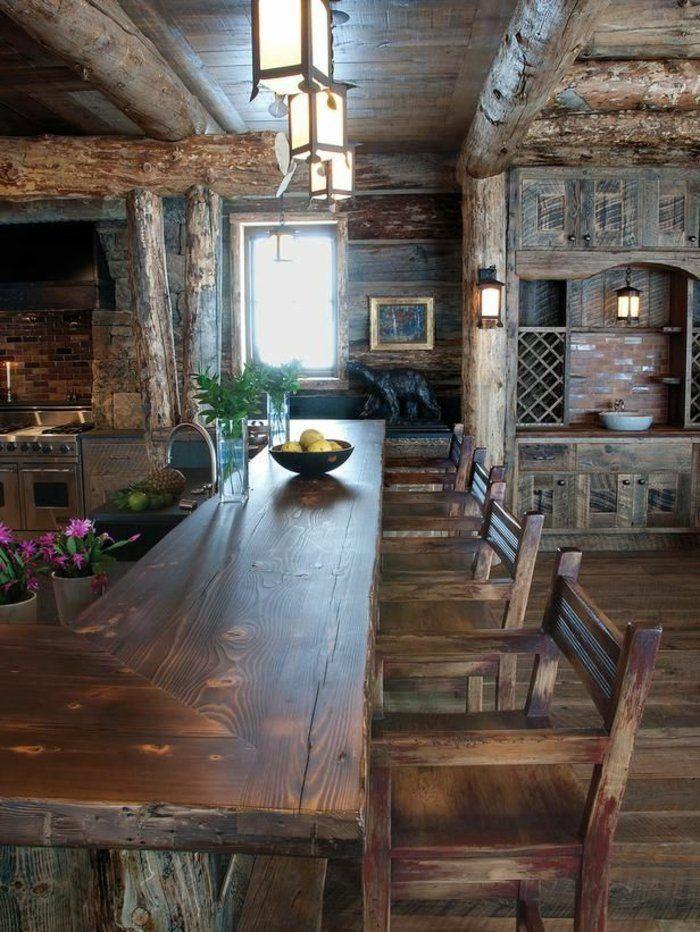 La cuisine en bois massif en beaucoup de photos! Cuisine en bois
