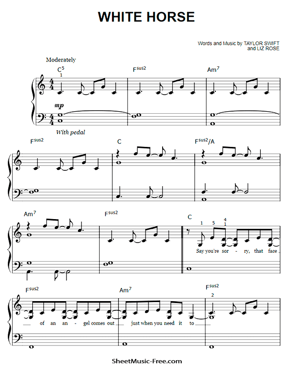 Download White Horse Easy Piano Sheet Music Pdf Taylor Swift Sheet Music Sheet Music Pdf Piano Sheet Music Pdf