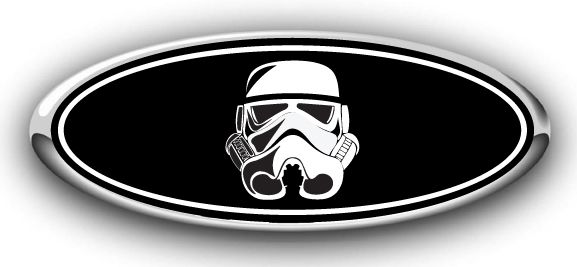 Ford storm trooper overlay emblem decal ford custom emblem ovelay decals stickers
