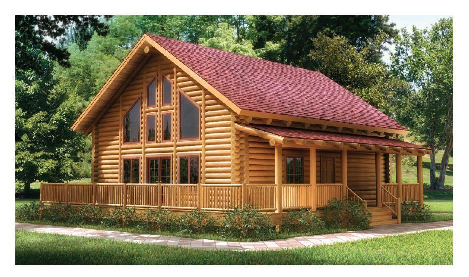 Log Home Floorplan Elk Run The Original Lincoln Logs Lincoln