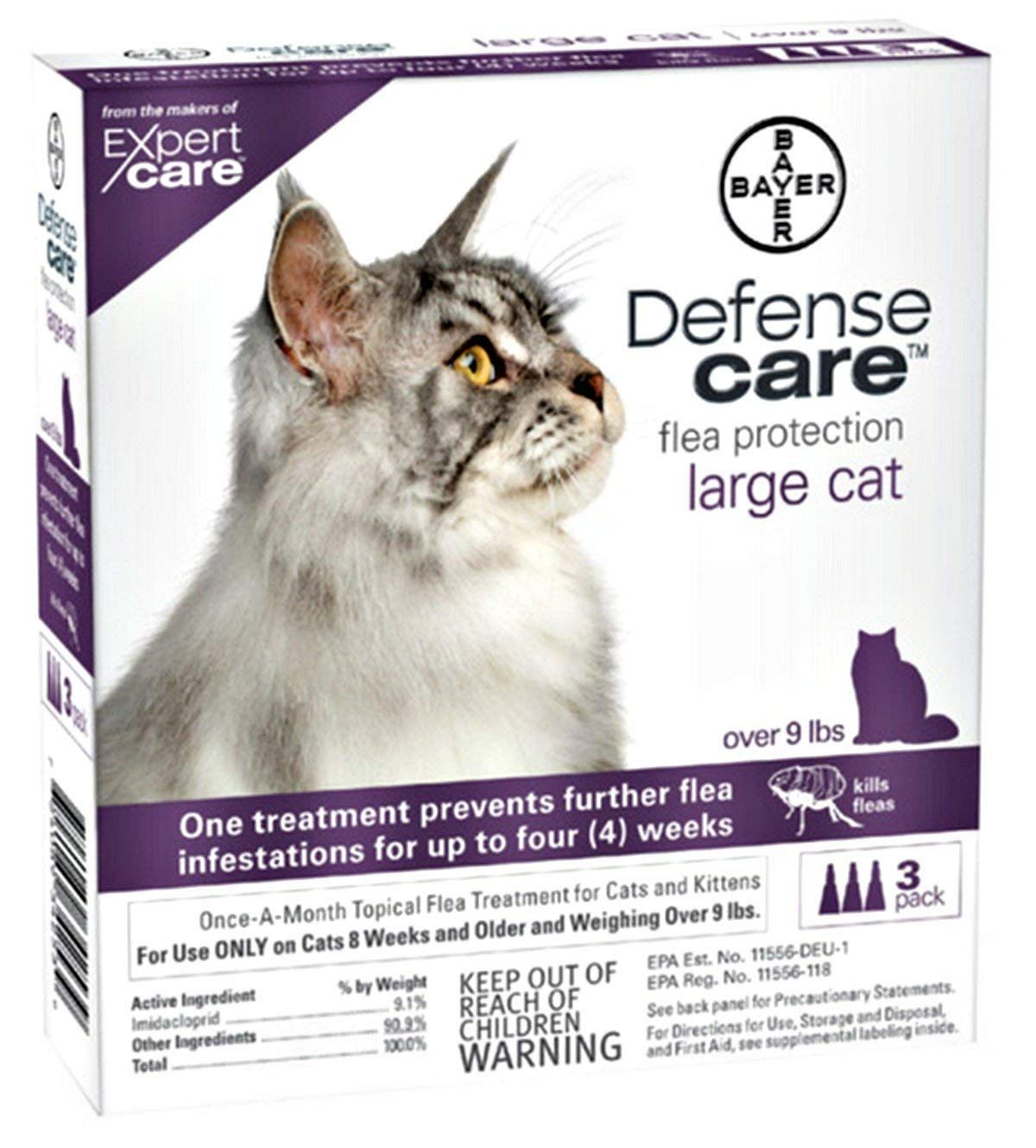 Bayer Defense Care Flea Protection For Large Cat 3 Month Supply