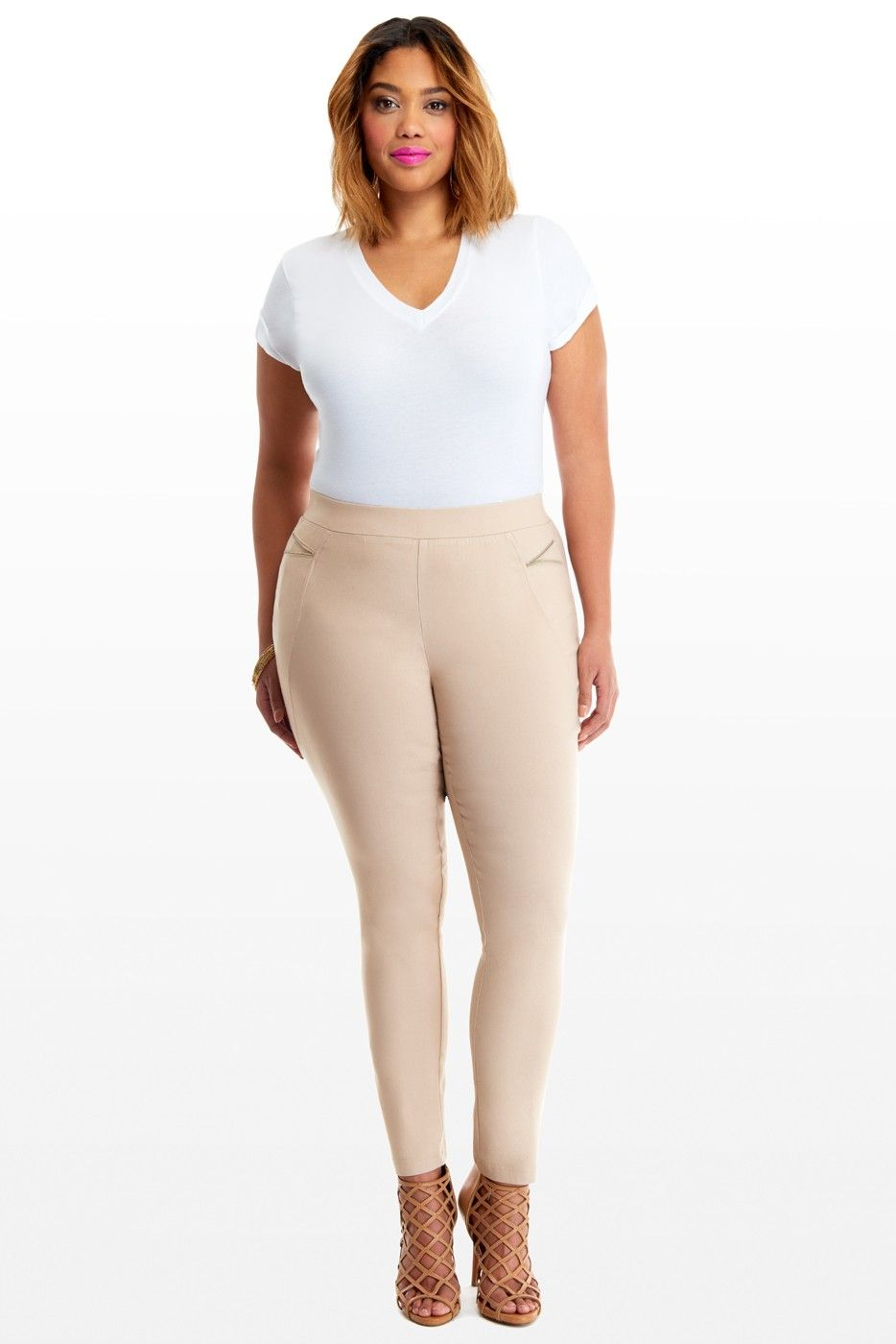 Plus Size Lara Zip Skinny Pants | Fashion To Figure