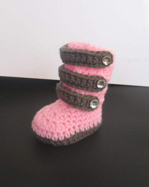 crochet baby girl winter booties boots shoes by fashionbooties ...