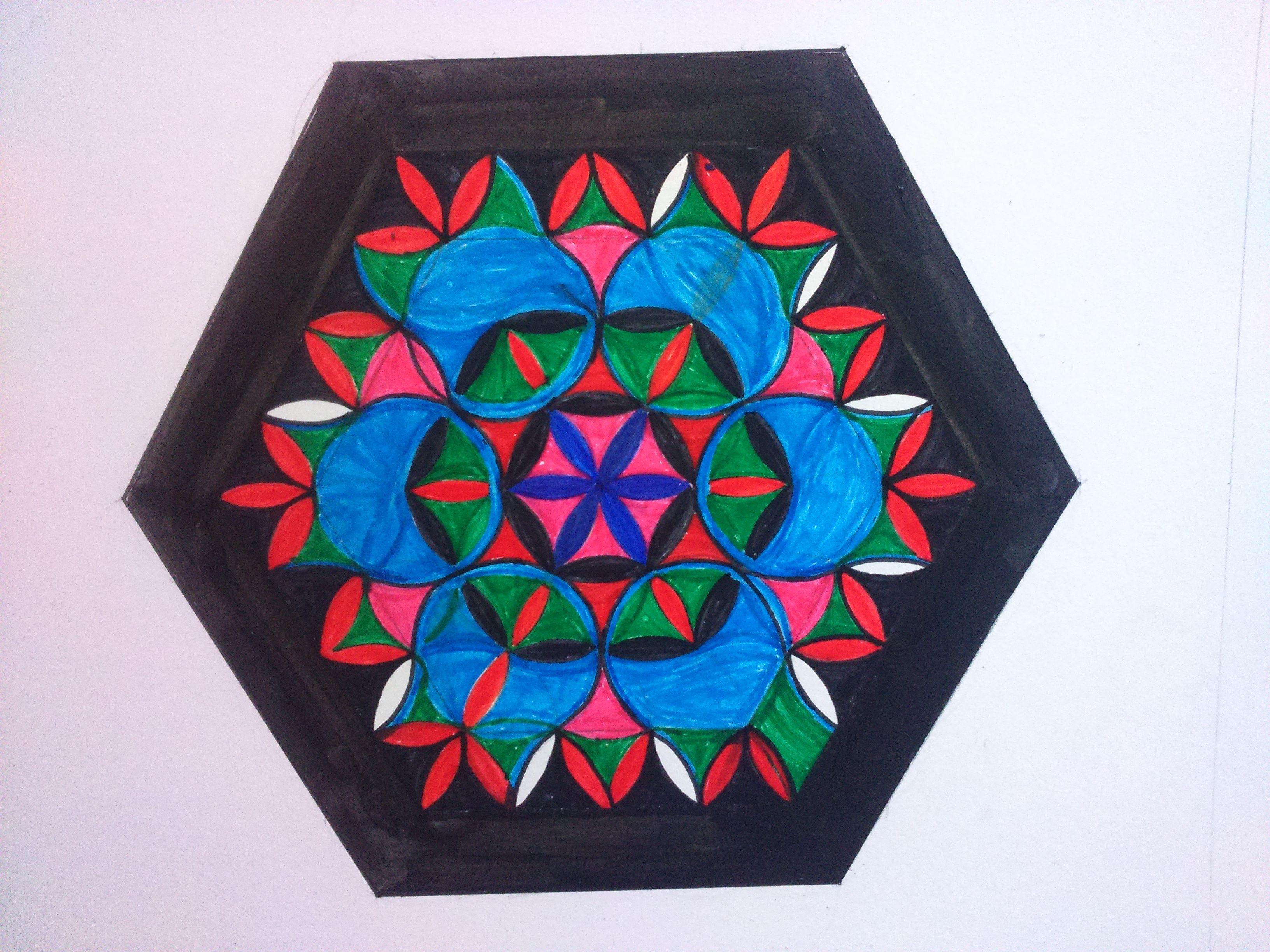 Intuïtief Tekenen En Schilderen Van De Levensbloem De