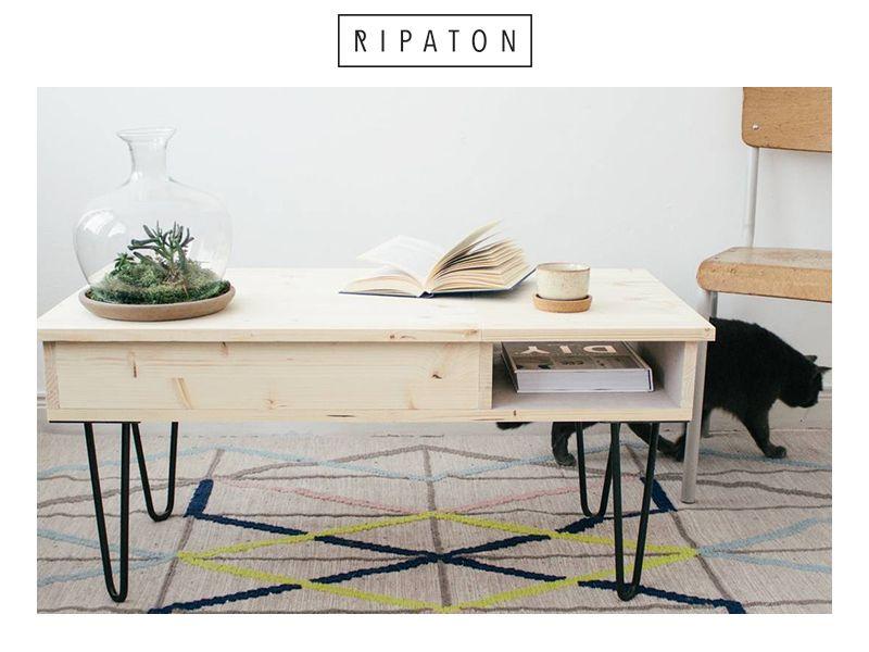 pies en pingle cheveux table basse pied de table. Black Bedroom Furniture Sets. Home Design Ideas