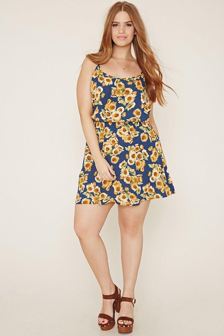 Plus Size Sunflower Cami Dress | Forever 21 PLUS ...