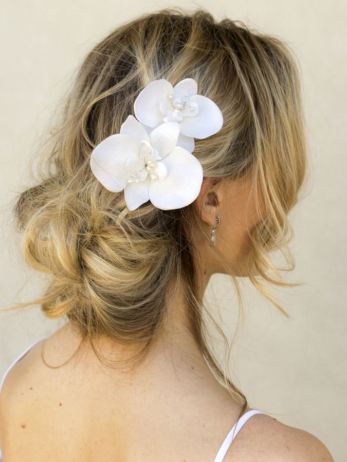 Orchid Bridal Hair Flower Quot Carys Quot Bridal Hair Accessories By Hair Comes The Bride Bride Hair Accessories Bridal Hair Bridal Hair Accessories