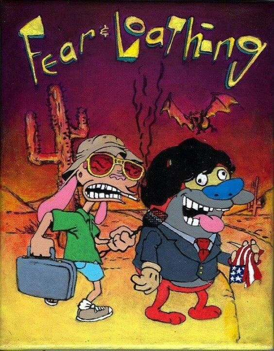 0fba029f8 Fear and loathing in las vegas with Ren & Stimpy. Ren and stimpy