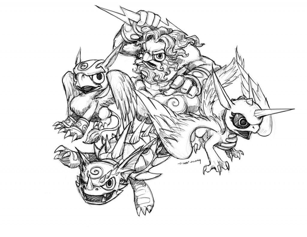 Skylanders Giants Coloring Pages To Print