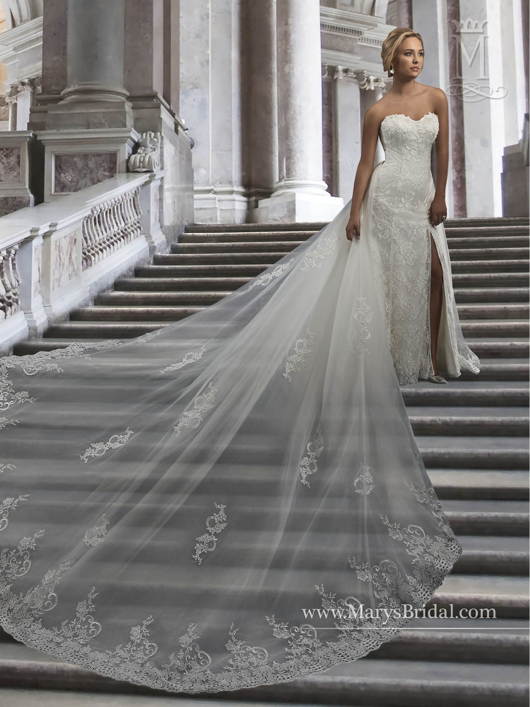Collection Bridal Gowns Couture D Amour Style Description English Lace Gown With Strapless Sweetheart Neck Line Side On Skirt
