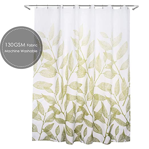 Amazon Com Ebecede Extra Long Fabric Shower Curtain 72 X 78