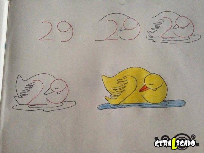 Criando desenhos com numeros 7