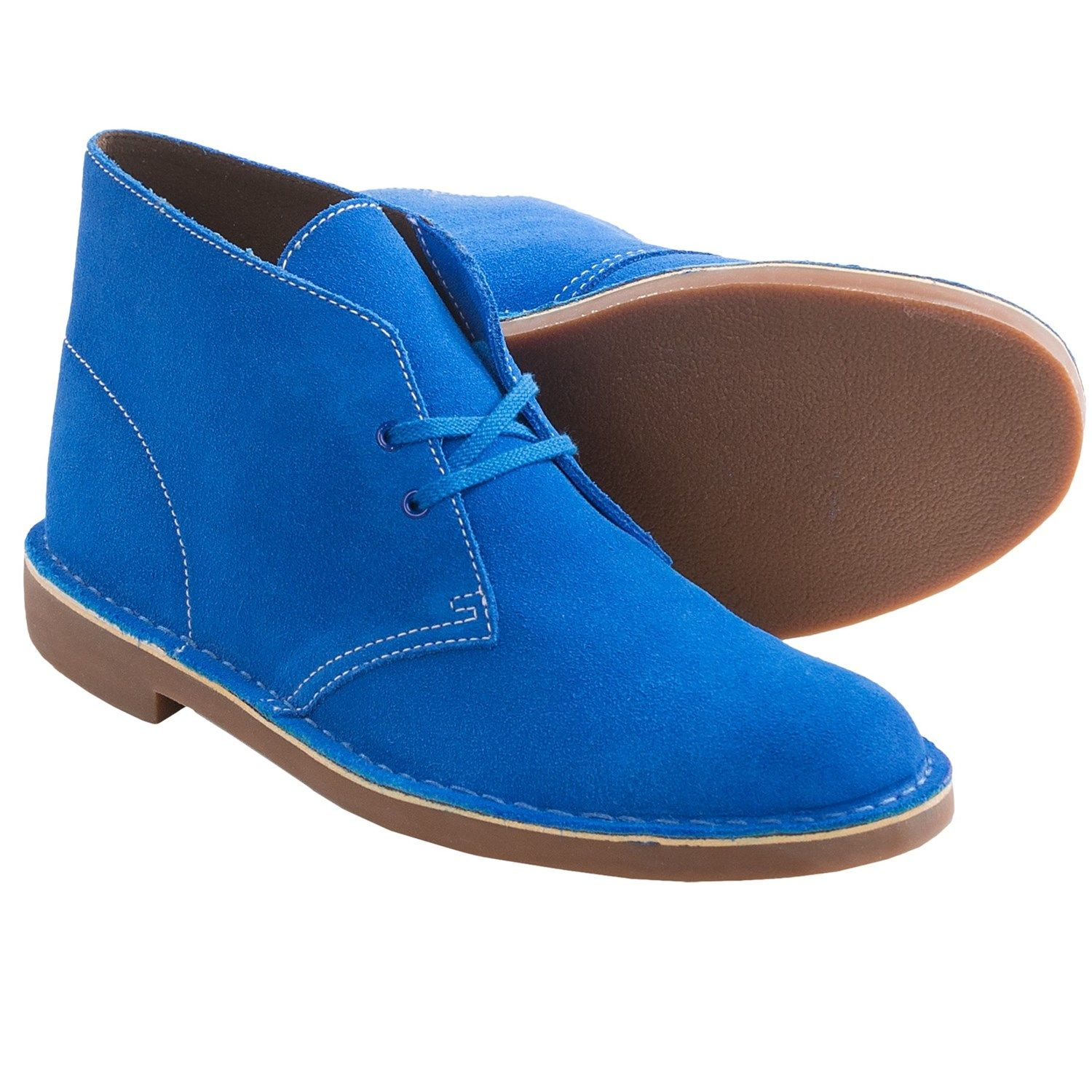 Clarks Bushacre 2 Chukka Boots - Leather (For Men) | 2!, Blue and ...
