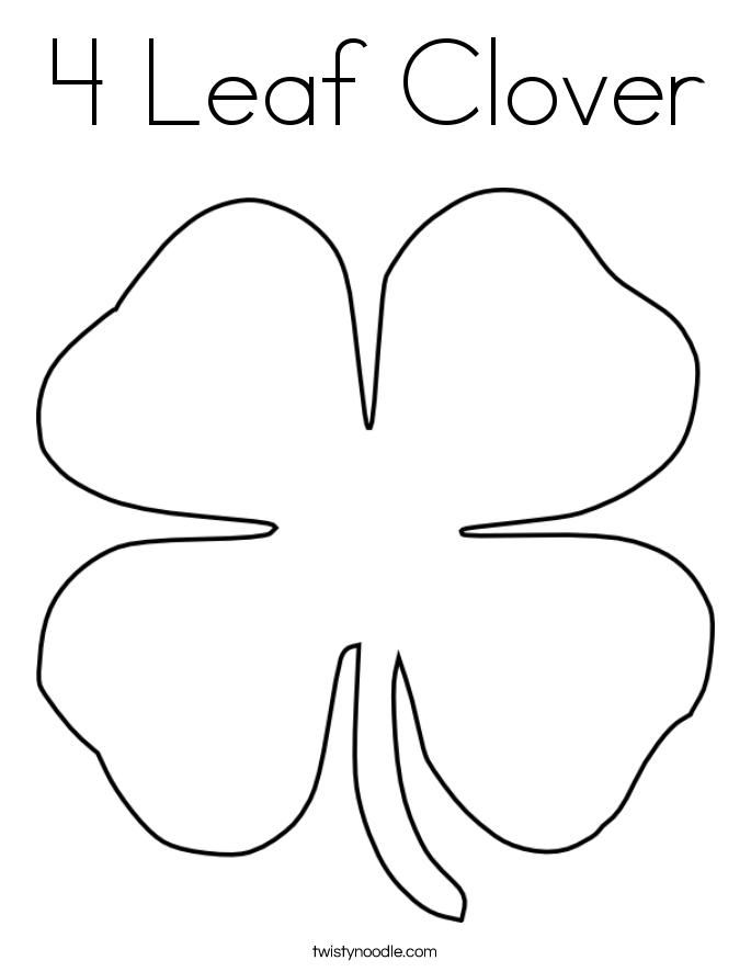 leaf clover coloring page clover leaf