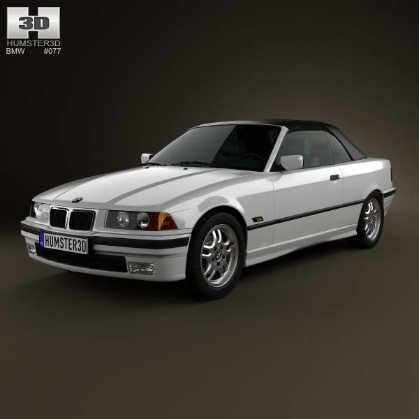BMW 3 Series (E36) Convertible 1994 3d Model From
