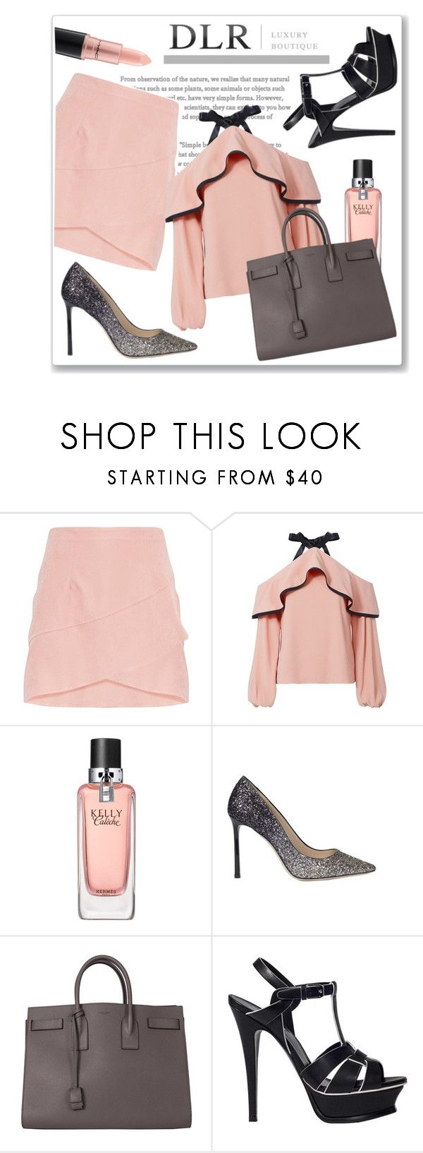 """""""DLRBOUTIQUE.COM"""" by ruza-b-s ❤ liked on Polyvore featuring Alexis, Hermès, Jimmy Choo, Yves Saint Laurent and MAC Cosmetics"""