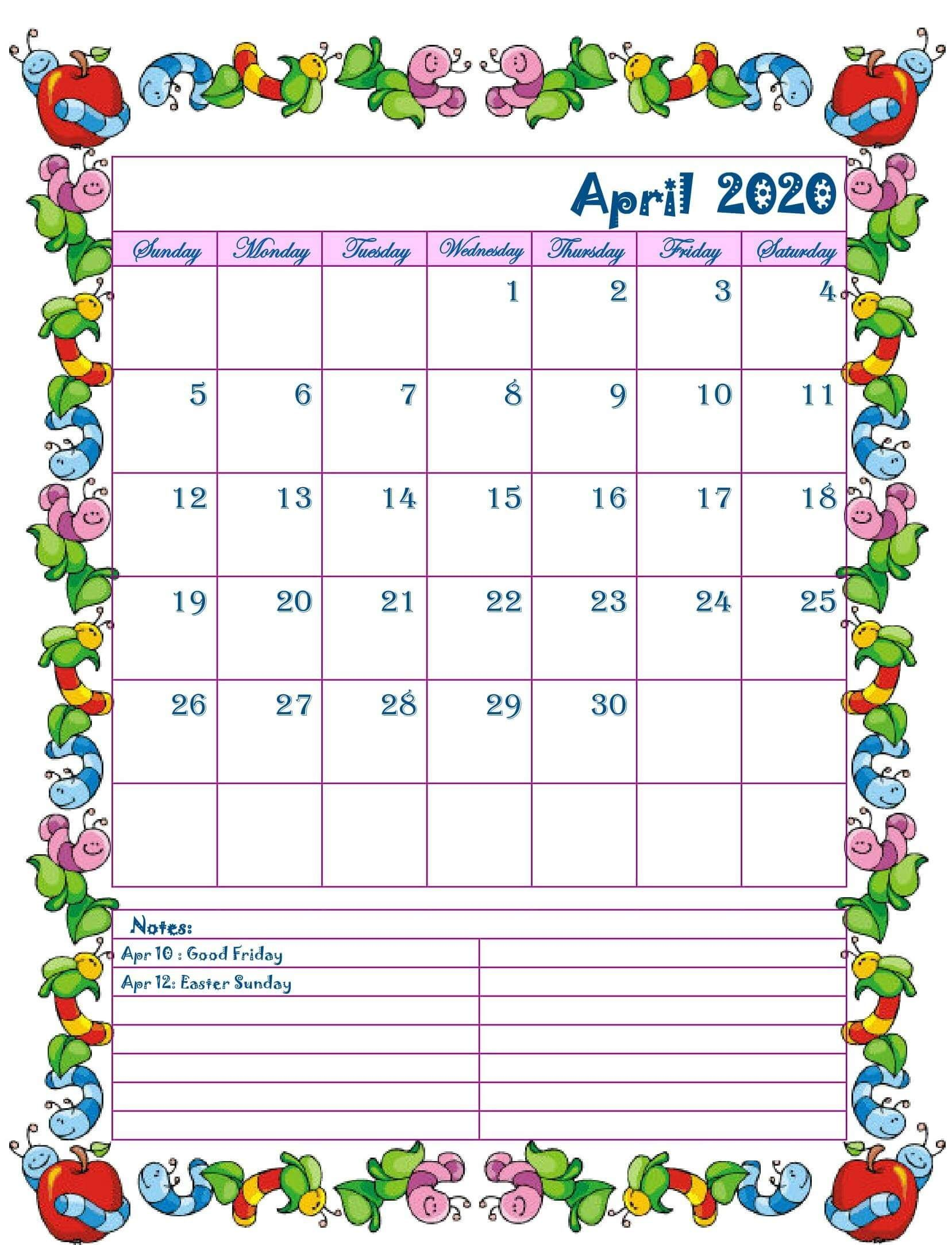Floral April 2020 Calendar Cute Desk And Wall Wallpaper In 2020