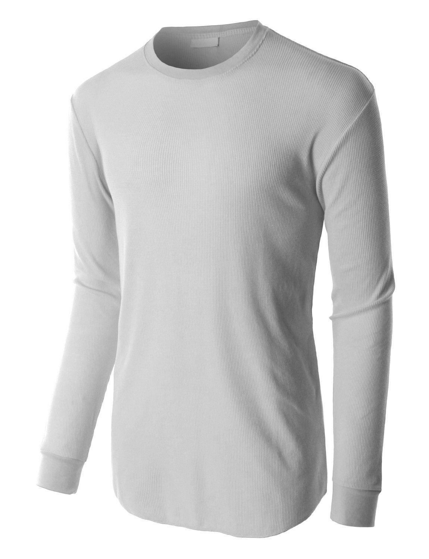 Le3no Mens Lightweight Waffle Knit Long Sleeve Crewneck Thermal Shirt Thermal Shirt Shirts Perfect Shirt [ 1500 x 1150 Pixel ]