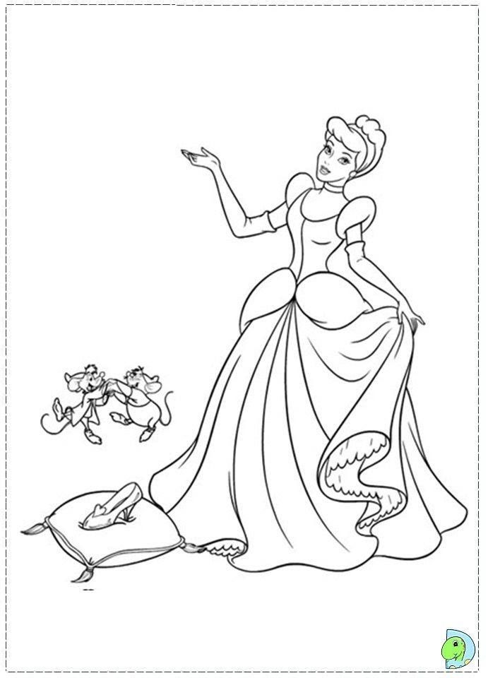 image relating to Printable Cinderella Coloring Pages named Pin through Future Casto upon Enjoyable the youngsters Cinderella