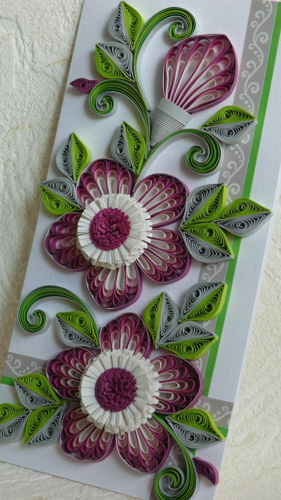 quilling art greeting cardhandmadefree shipping