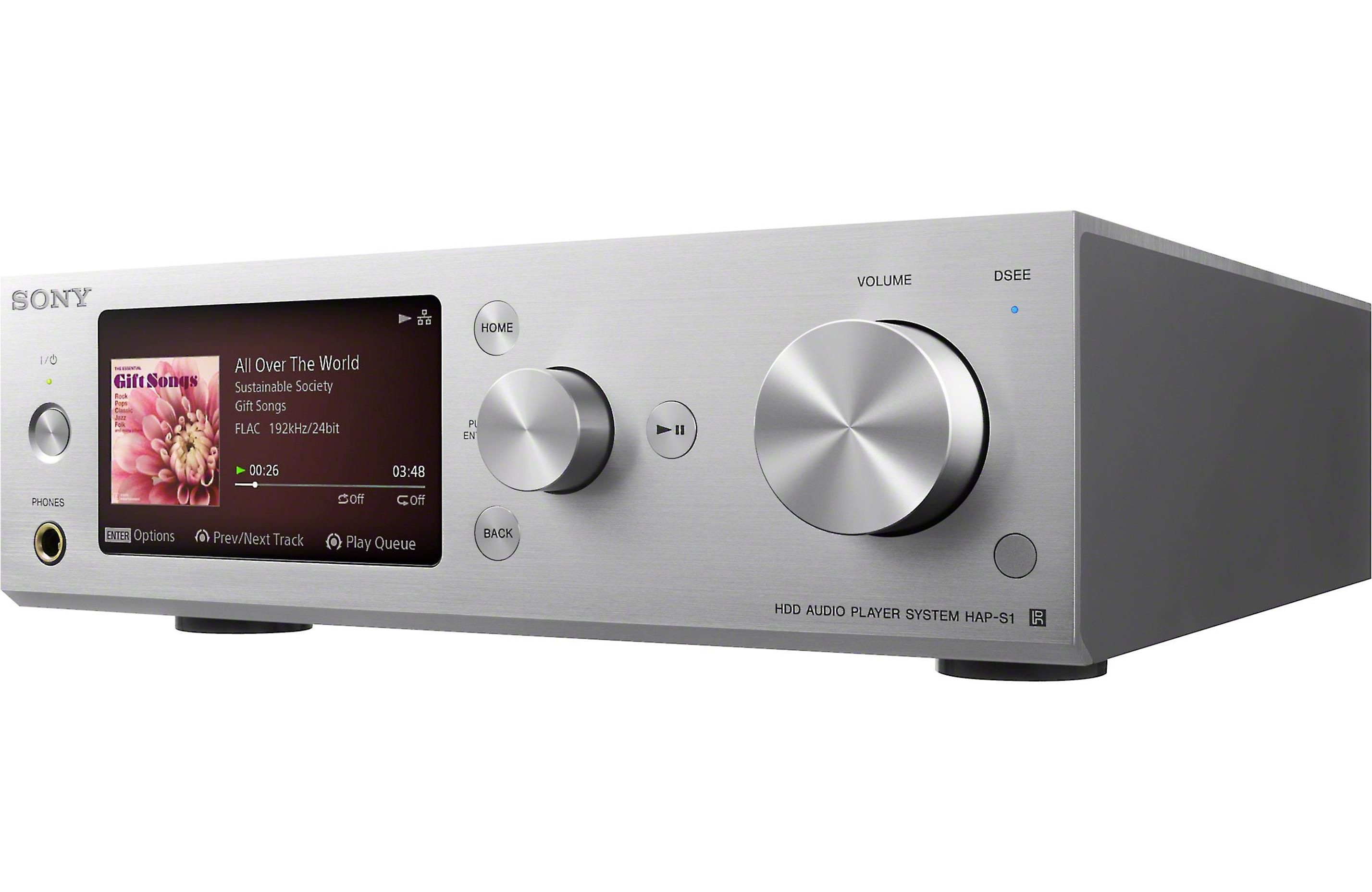 Sony Hap S1 Silver High Resolution Network Music Player And Integrated Amplifier At Crutchfield Audio Audio Player Sony