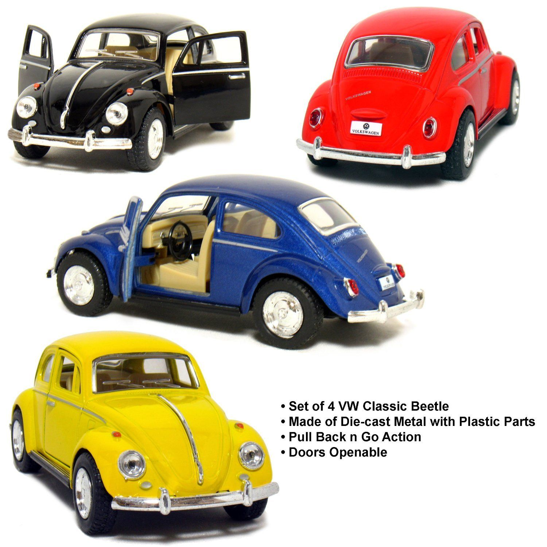 set of 4 5 classic 1967 volkswagen beetle 1 32 scale black blue rh pinterest com