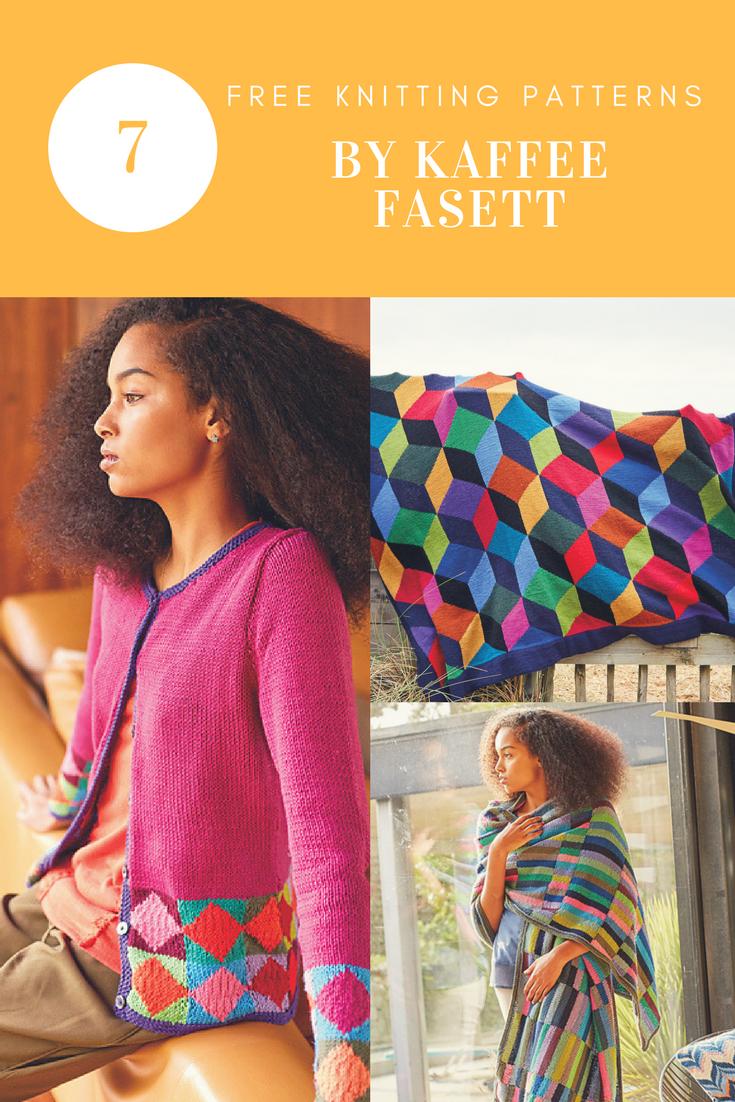 d737141c2533e5 A Burst of Colour by Kaffe Fasset  7 Free Knitting Patterns ...