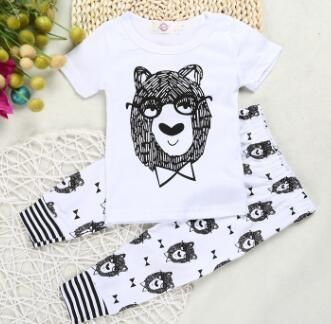 80cd1a66f32d New summer cotton children s clothing boys short sleeve baby girl ...