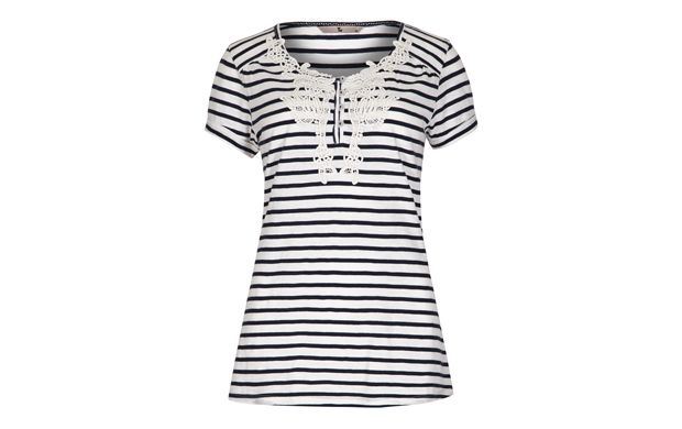 Embroidered+Striped+Tee+-+Tu+Clothing+at+Sainsbury's