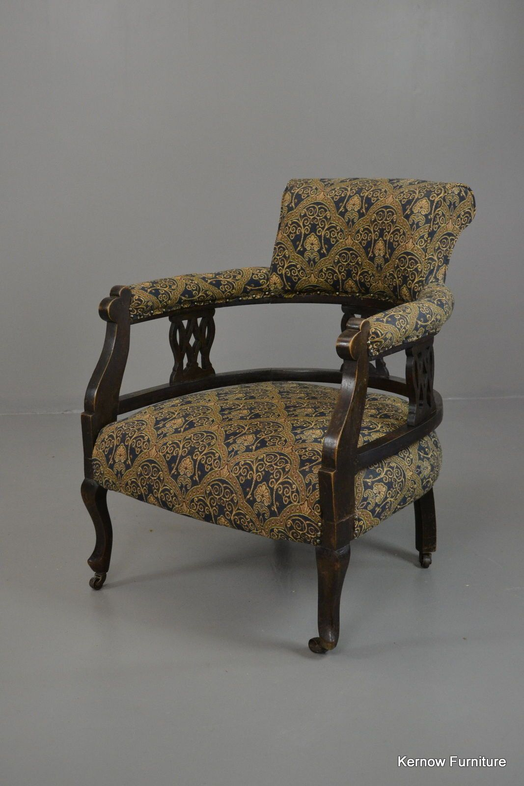 Antique Edwardian Small Armchair - Kernow Furniture Antique Chairs For  Sale, Vintage Chairs, Edwardian - Antique Edwardian Small Armchair - Kernow Furniture Edwardian