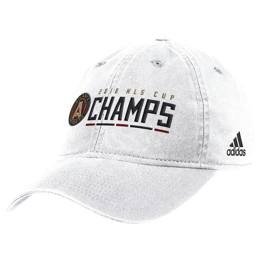 innovative design 35a23 cd9f0 adidas Atlanta United FC White 2018 MLS Cup Champions Slouch Adjustable Hat