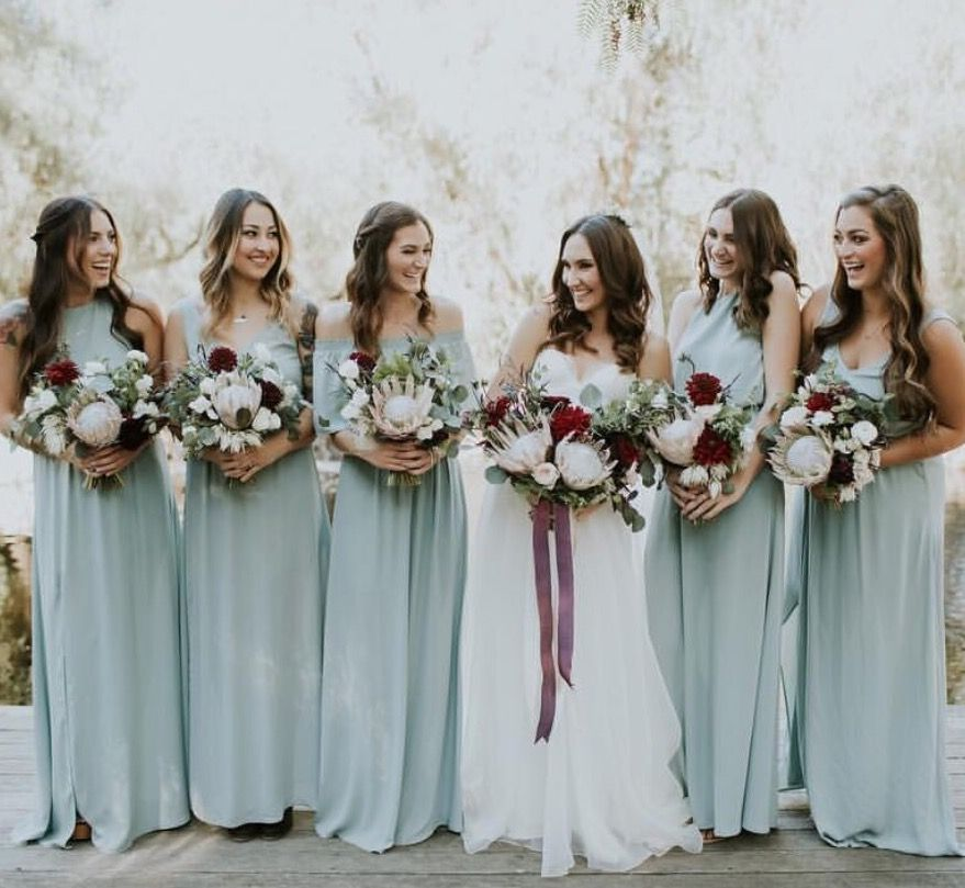 41e3c2bdc50 Show Me Your Mumu Bridesmaids in Silver Sage