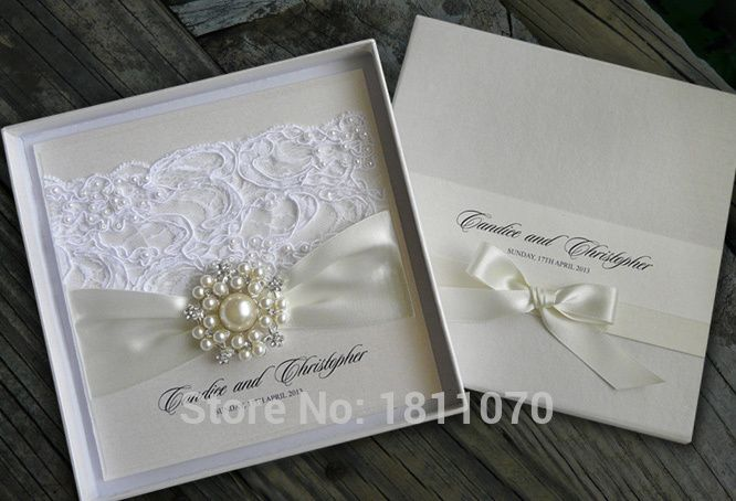 Resultado de imagen para invitaciones perla y azul boda encaje