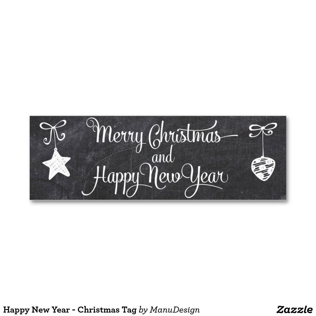 Happy New Year - Christmas Tag Pack Of Skinny Business Cards ...