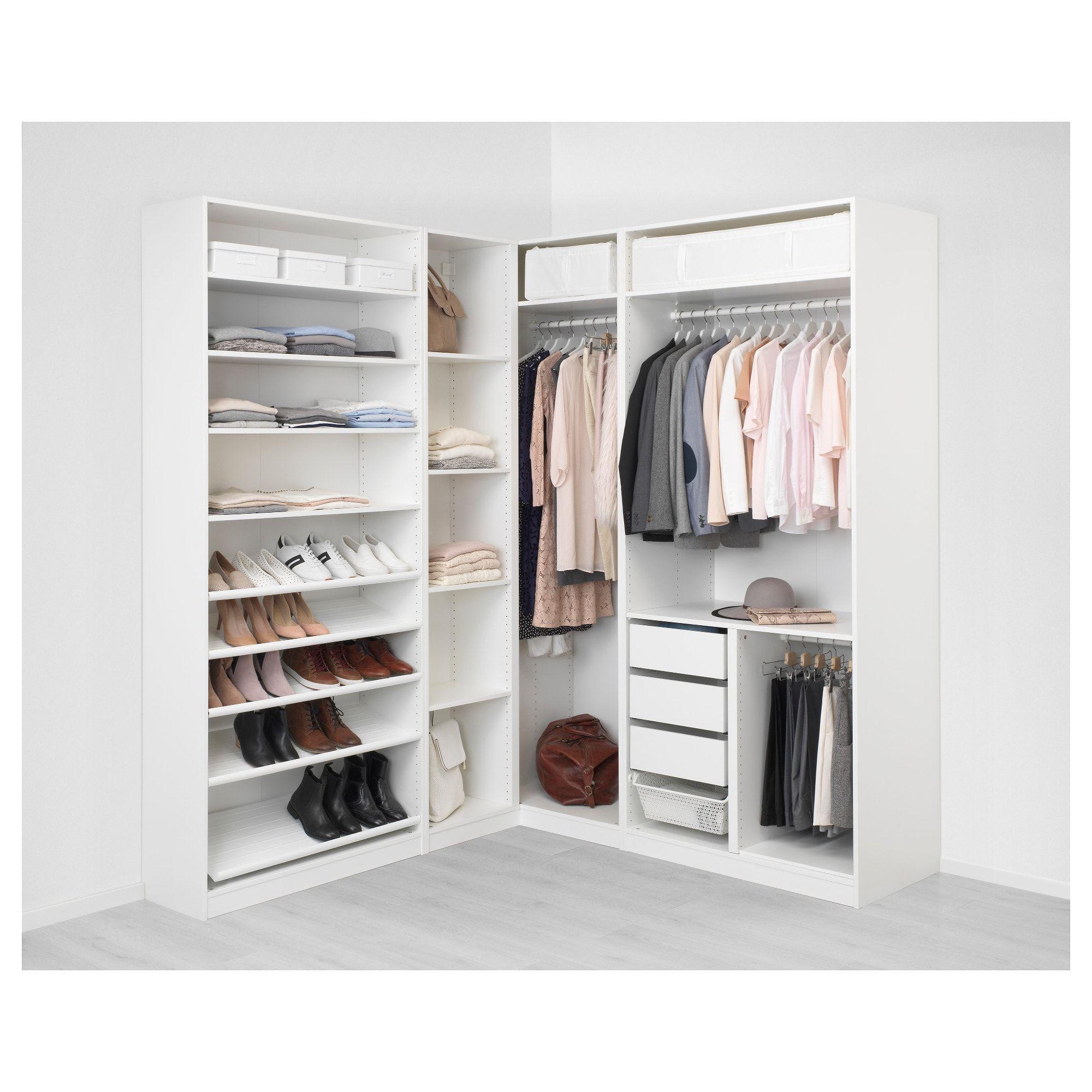 PAX Corner wardrobe white Tyssedal, Tyssedal glass 82 3