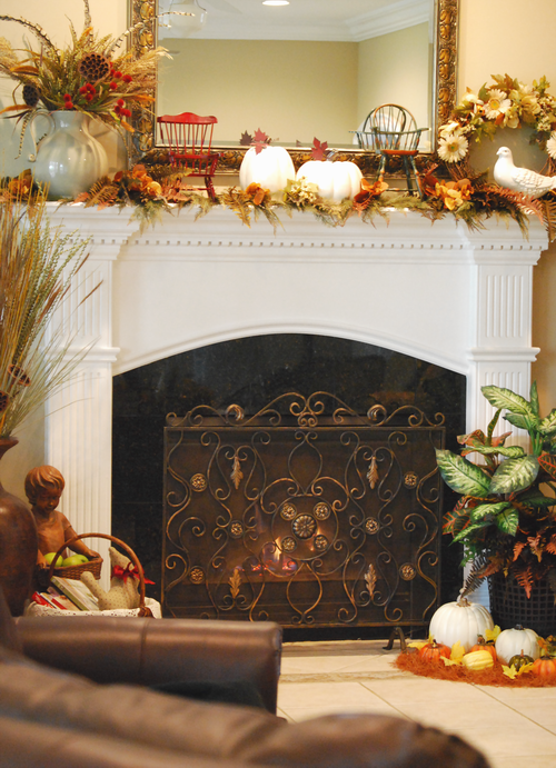 17 best images about Fireplace Mantels – Fall Mantel Decorations
