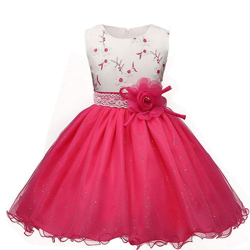 Flor criança meninas crianças casamento formal vestido de princesa