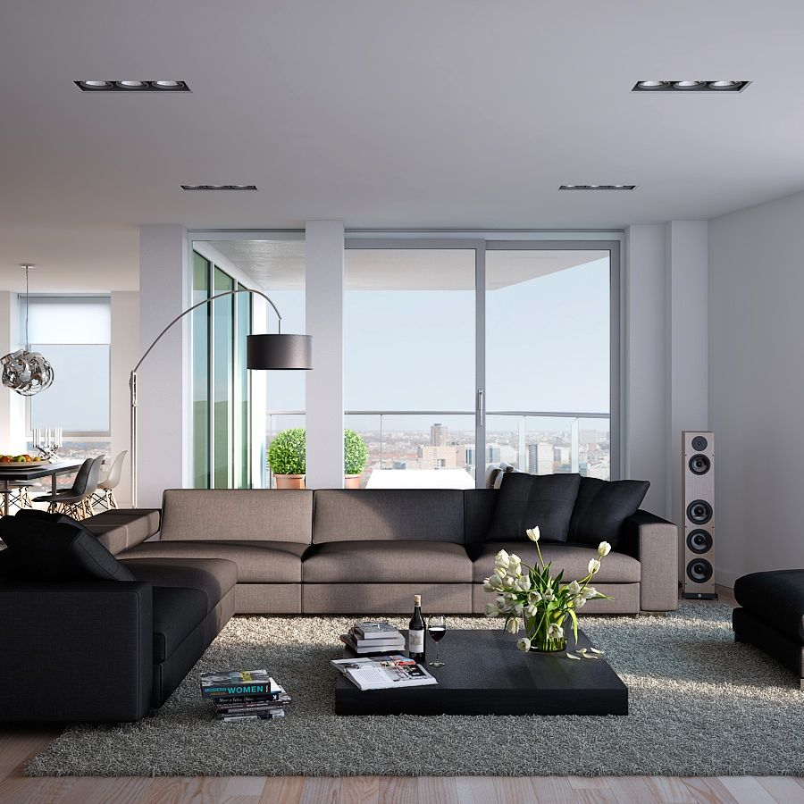 Modern wood apartment living room but not a fan of the table ...