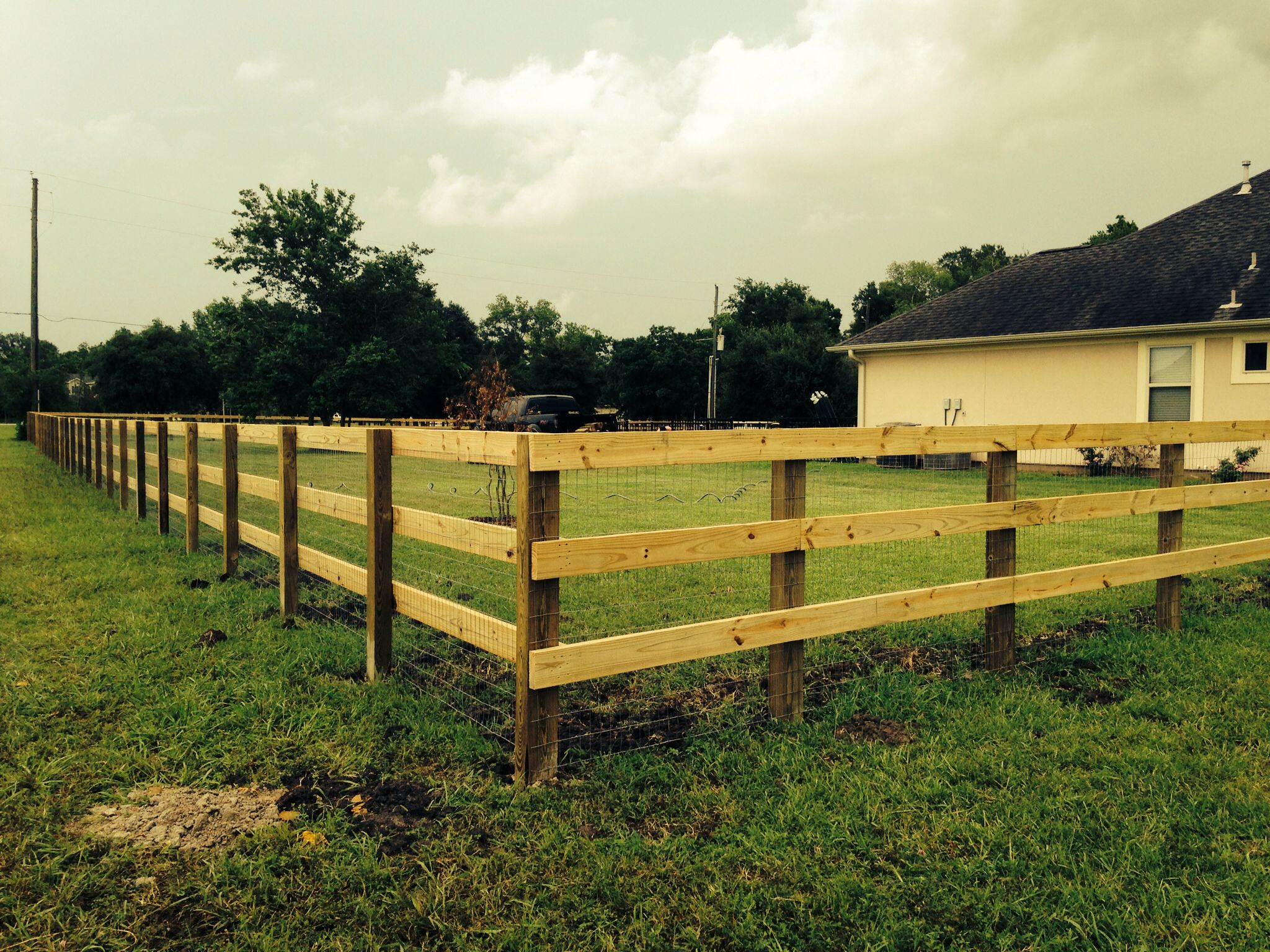 3 Rail Fence With 4x6 Treated Post And 2x6 Treated Rails Backyard Fences Wood Fence Wood Fence Post