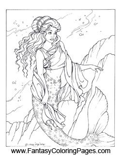 16 beautiful mermaids PDF format and sizeed for 8.5x11? paper so they are perfect for printing ...