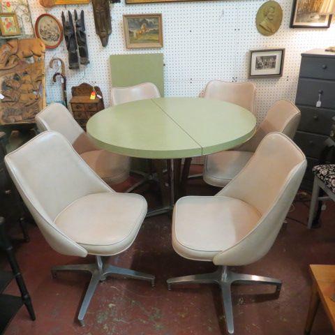 Brilliant Sold 395 Vintage Mid Century Modern 7 Pc Dinette Set Ncnpc Chair Design For Home Ncnpcorg