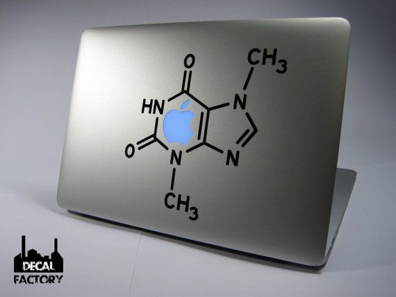 Cool Chocolate Molecule Science Macbook Laptop Vinyl Sticker Decal Apple  Air Pro Dell HP IBM Acer
