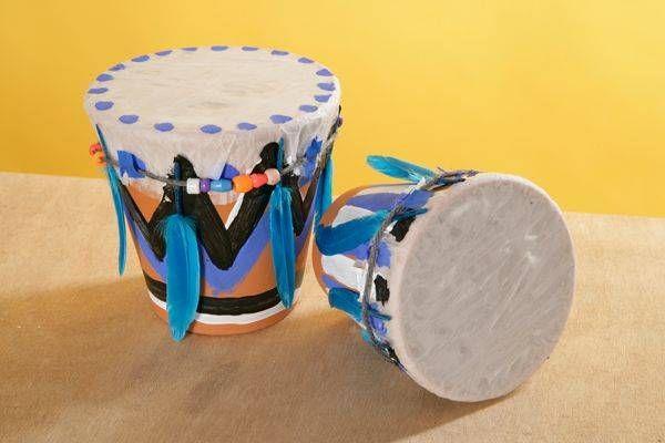 trommel basteln indianer party pinterest trommel basteln trommel und basteln. Black Bedroom Furniture Sets. Home Design Ideas