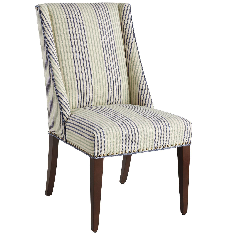 Owen Navy U0026 Spa Blue Striped Dining Chair