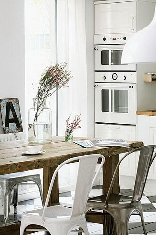 Un apartamento con aire vintage | Comedores, Sillas y Color