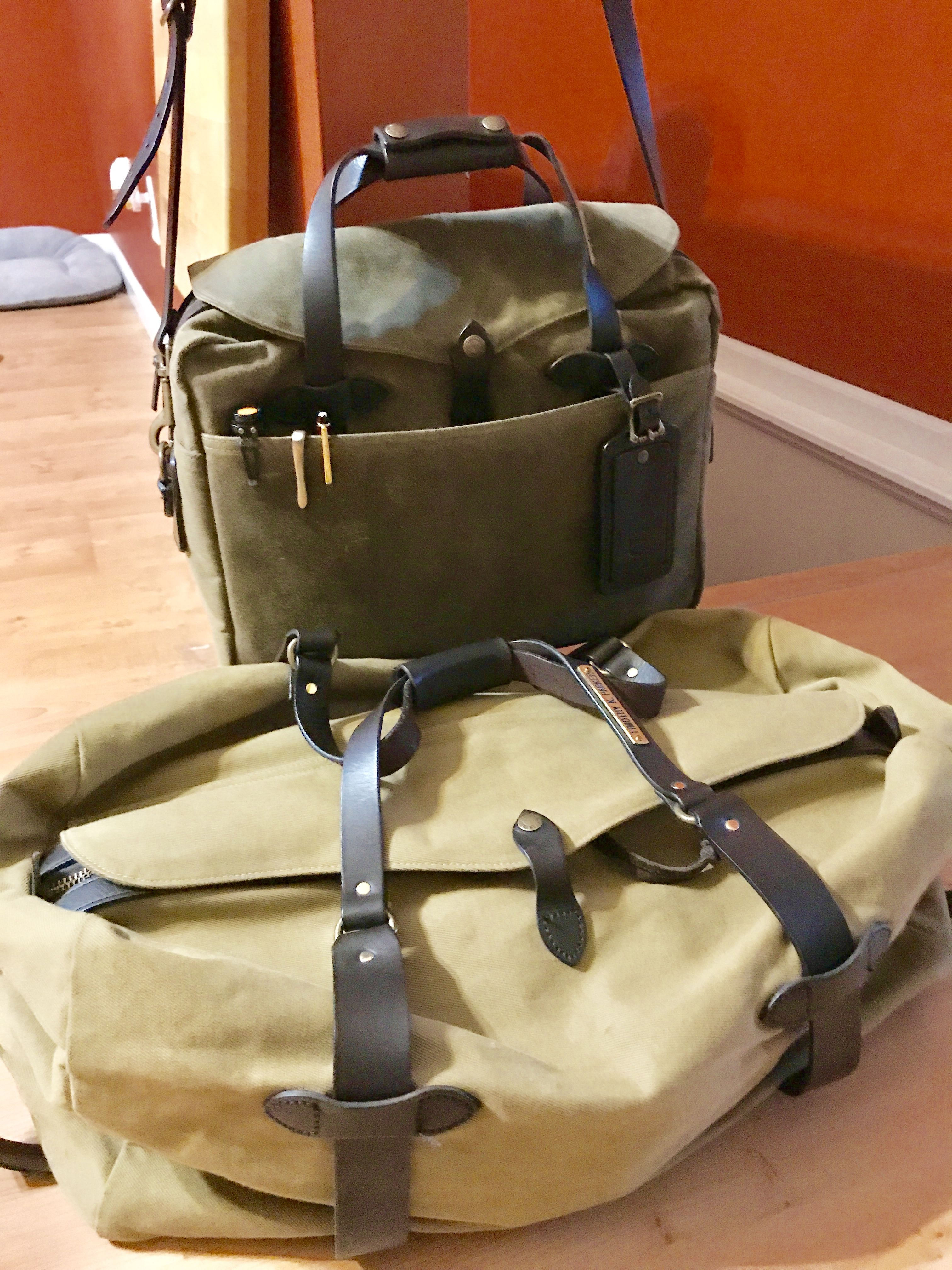 My Trusty Filson Bags Ready For