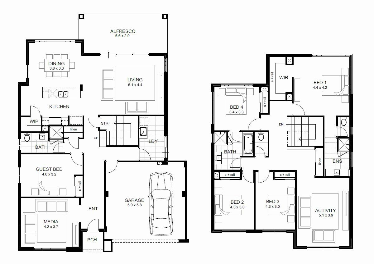 Five Bedroom House Plans Elegant 5 Bedroom House Designs Perth Double Storey In 2020 5 Bedroom House Plans House Plans With Photos Two Story House Plans